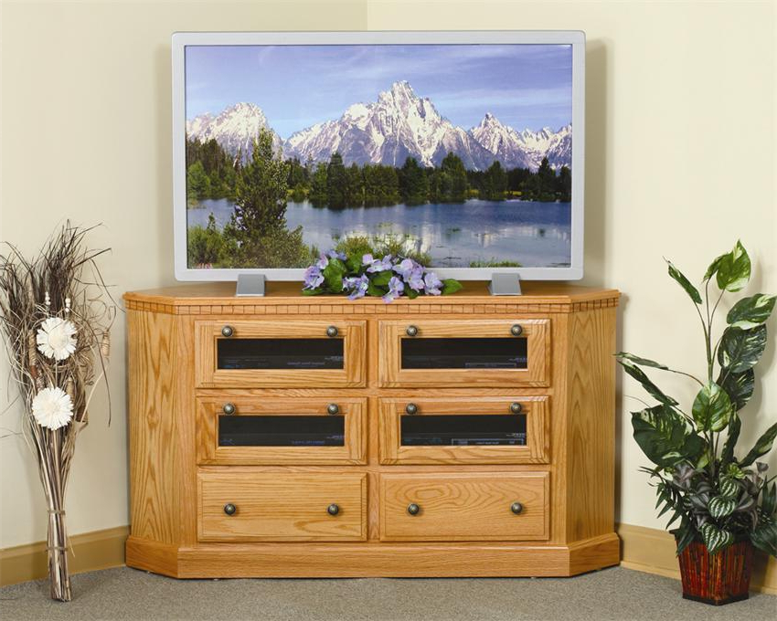 Amish Mulholland Corner Tv Stand In Lucy Cane Cream Corner Tv Stands (View 3 of 20)