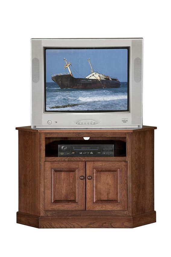 Amish Shaker Compact Corner Tv Stand In Lucy Cane Cream Corner Tv Stands (View 8 of 20)