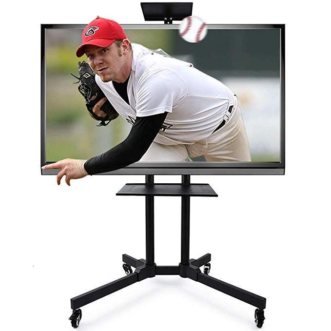 "Antistatic Coating 43 63""mount Tv Cart Trolley Mobile Tv With Rolling Tv Cart Mobile Tv Stands With Lockable Wheels (View 9 of 20)"