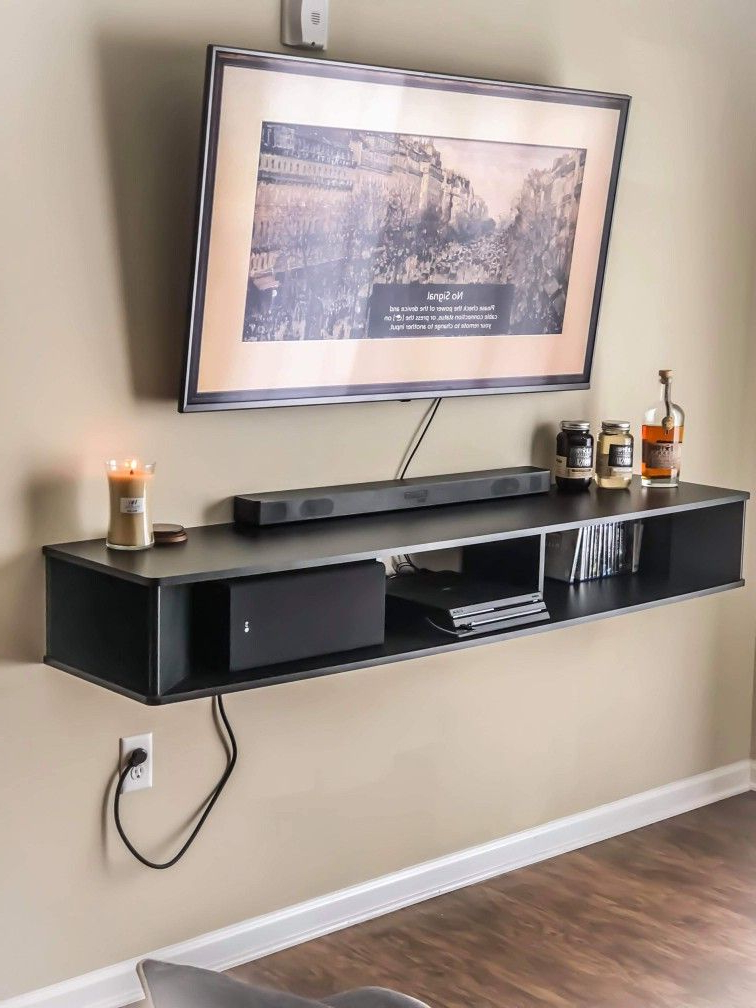 Apartment Ideas | Apartment, Wall Shelves, Mounted Tv Regarding Horizontal Or Vertical Storage Shelf Tv Stands (View 7 of 20)