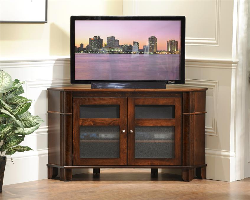 Arlington Corner Tv Stand From Dutchcrafters Amish Furniture Within Corner Entertainment Tv Stands (View 17 of 20)