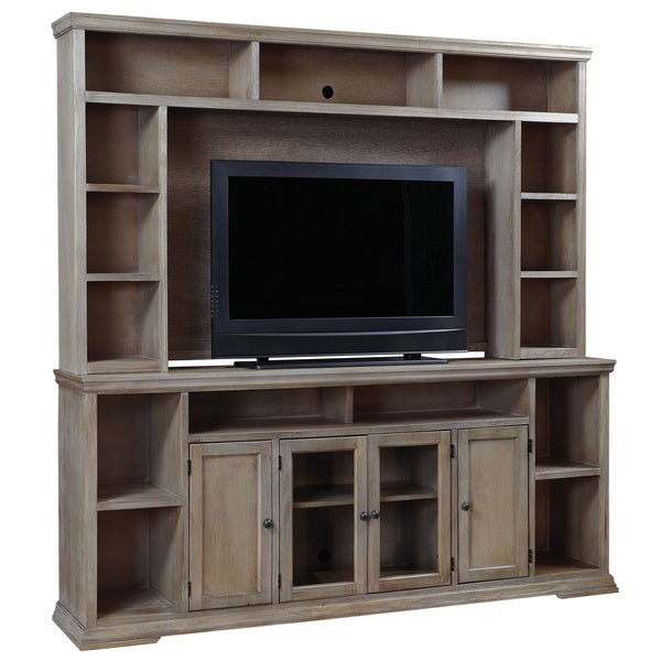 Art Van Oak Canyon 84 Inch Console With Hutch – 17101509 Pertaining To Canyon Oak Tv Stands (View 9 of 20)