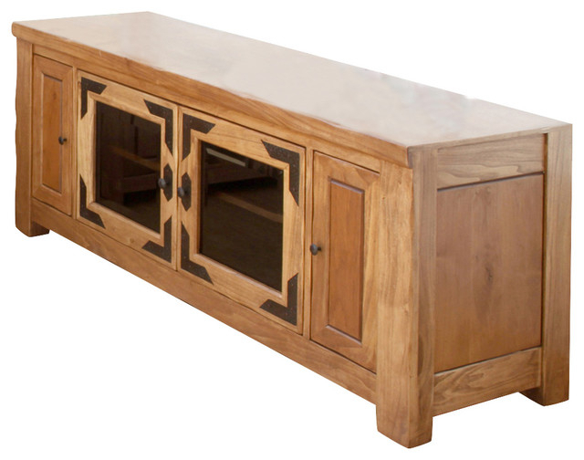 Artisan Home Lodge 100 60 Inch Wide Tv Stand With Media Within Indi Wide Tv Stands (View 17 of 20)