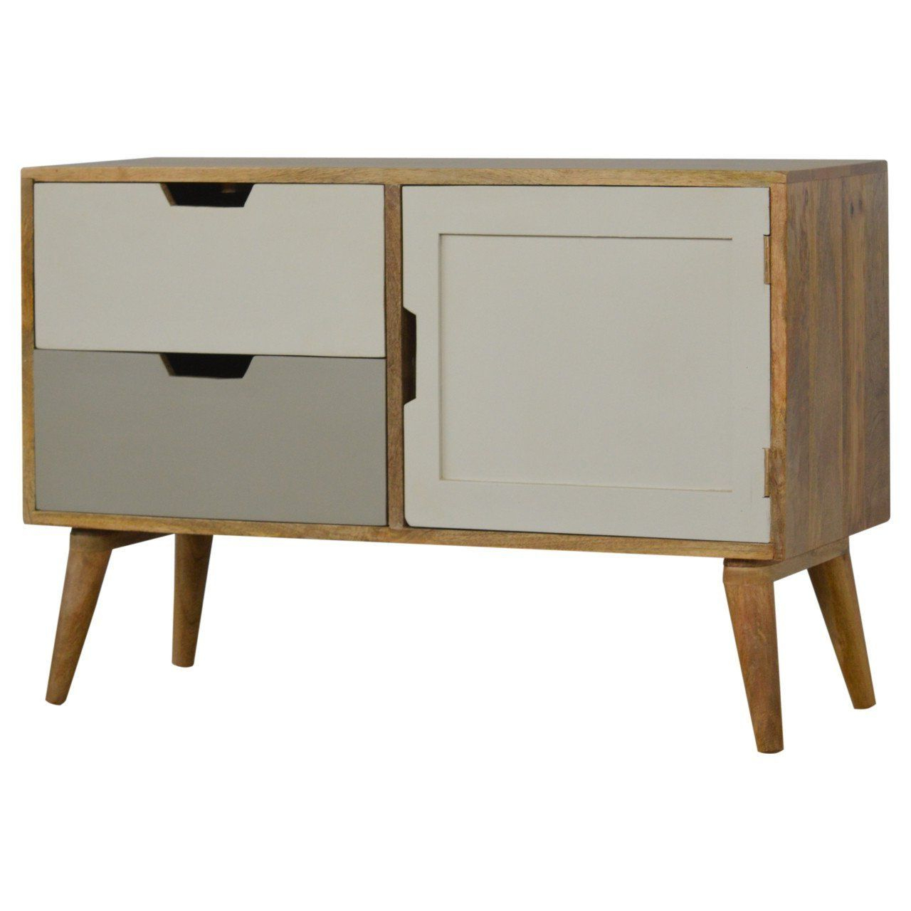 Artisan Nordic Style Media Unit/tv Unit – 2 Drawers – 1 With Scandi 2 Drawer White Tv Media Unit Stands (View 2 of 20)