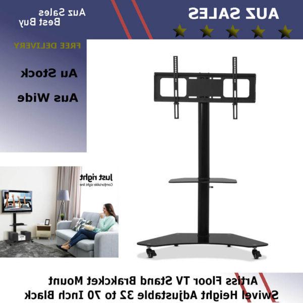 Artiss Floor Tv Stand Brakcket Mount Swivel Height Inside Swivel Floor Tv Stands Height Adjustable (View 15 of 20)