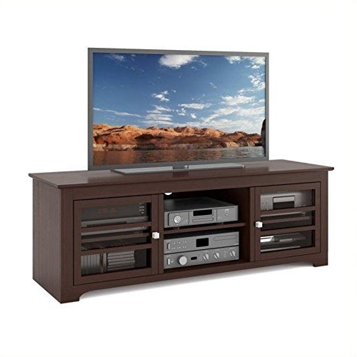 Atlin Designs Tv Stand In Dark Espresso | 60 Inch Tv Stand For Milan Glass Tv Stands (View 4 of 20)