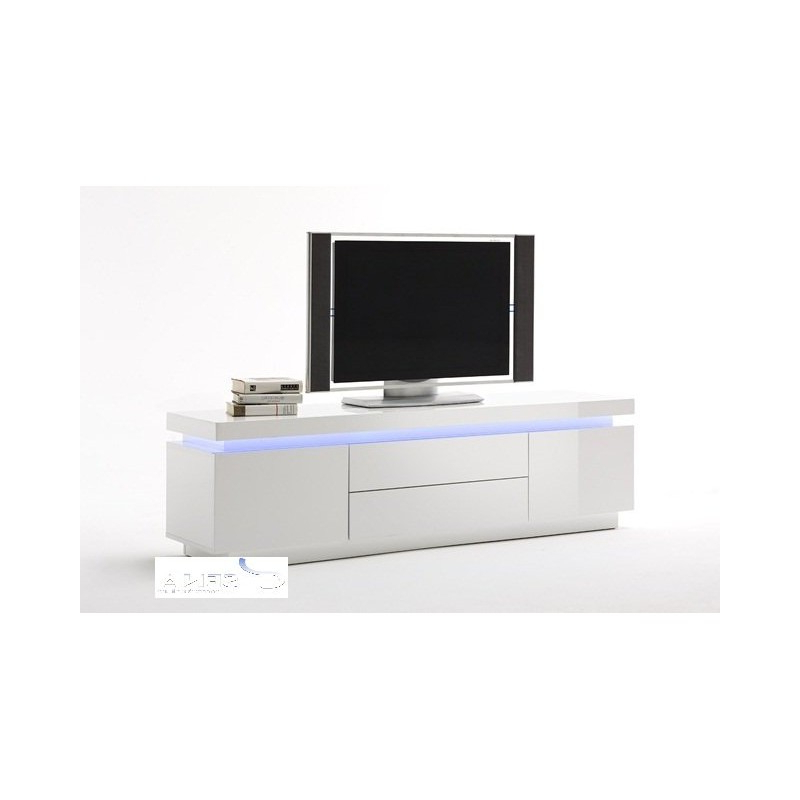 Avanti Gloss Tv Stand With Rgb Lights – Tv Stands – Sena Regarding 57'' Led Tv Stands With Rgb Led Light And Glass Shelves (View 6 of 20)