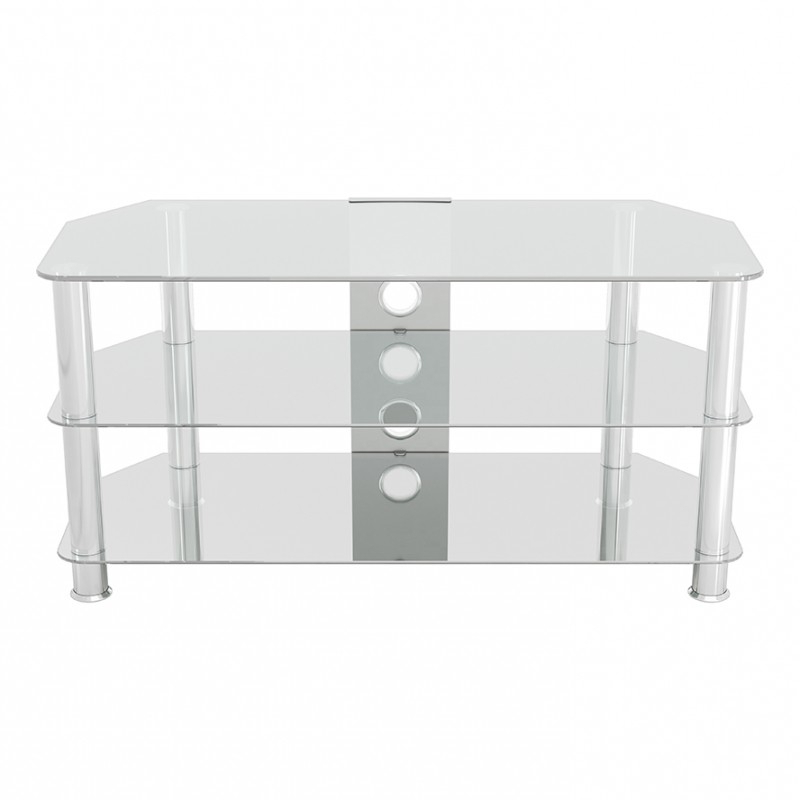 Avf Classic Corner Glass Tv Stand With Cable Management Throughout Tv Stands With Cable Management (View 9 of 20)