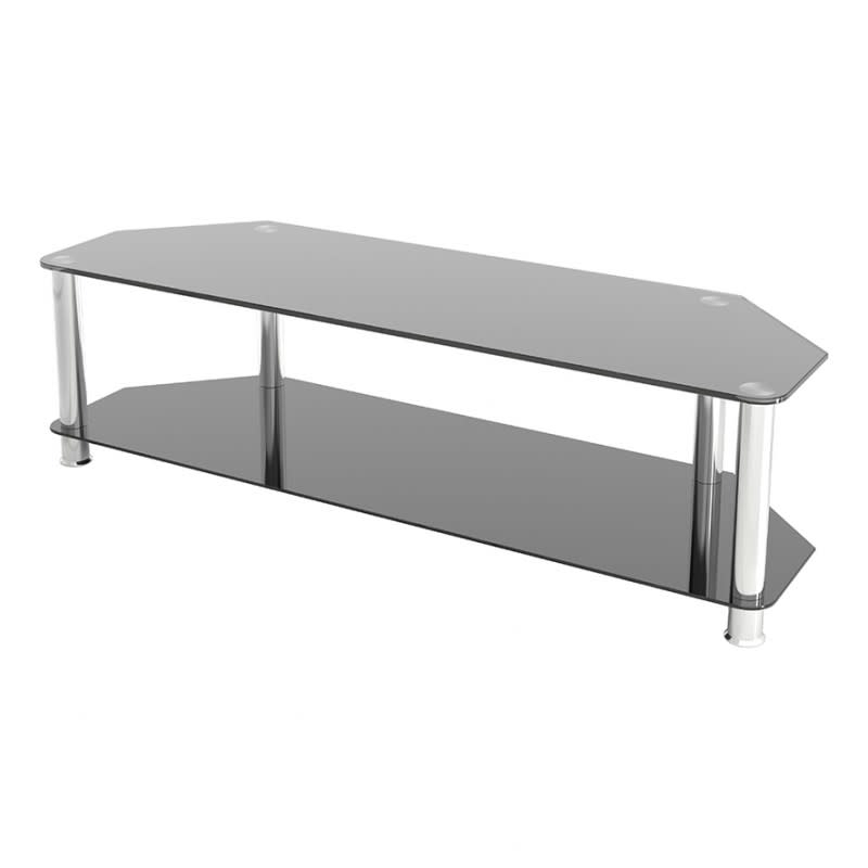 """Avf Group Classic Corner Glass Tv Stand Up To 65"""" Screen In Glass Shelves Tv Stands For Tvs Up To 50"""" (View 5 of 20)"""