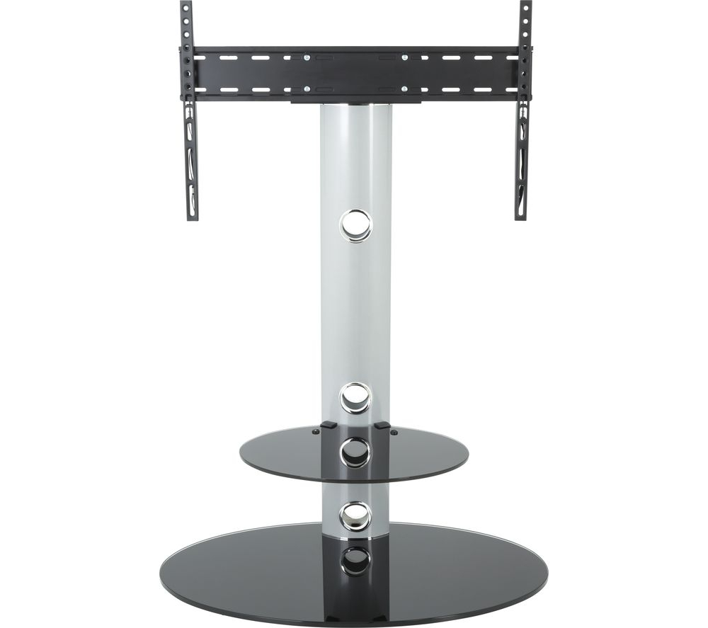Avf Lugano Fsl800lus Tv Stand With Bracket – Silver Deals In Tv Stands Fwith Tv Mount Silver/black (View 16 of 20)