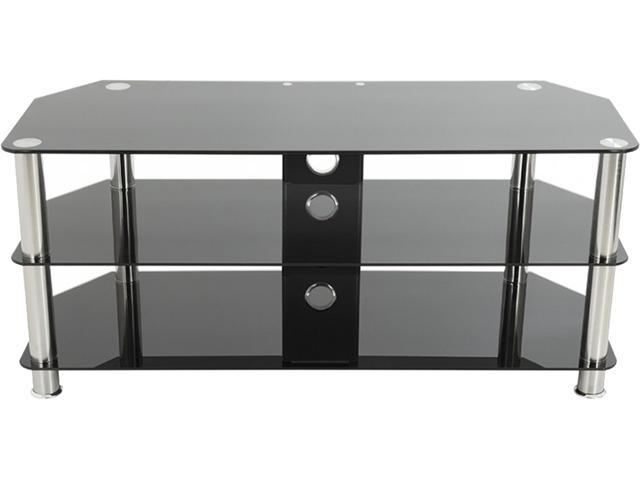 """Avf Sdc1000cm A Up To 50"""" Chrome Effect / Black Glass Inside Avf Group Classic Corner Glass Tv Stands (View 5 of 20)"""