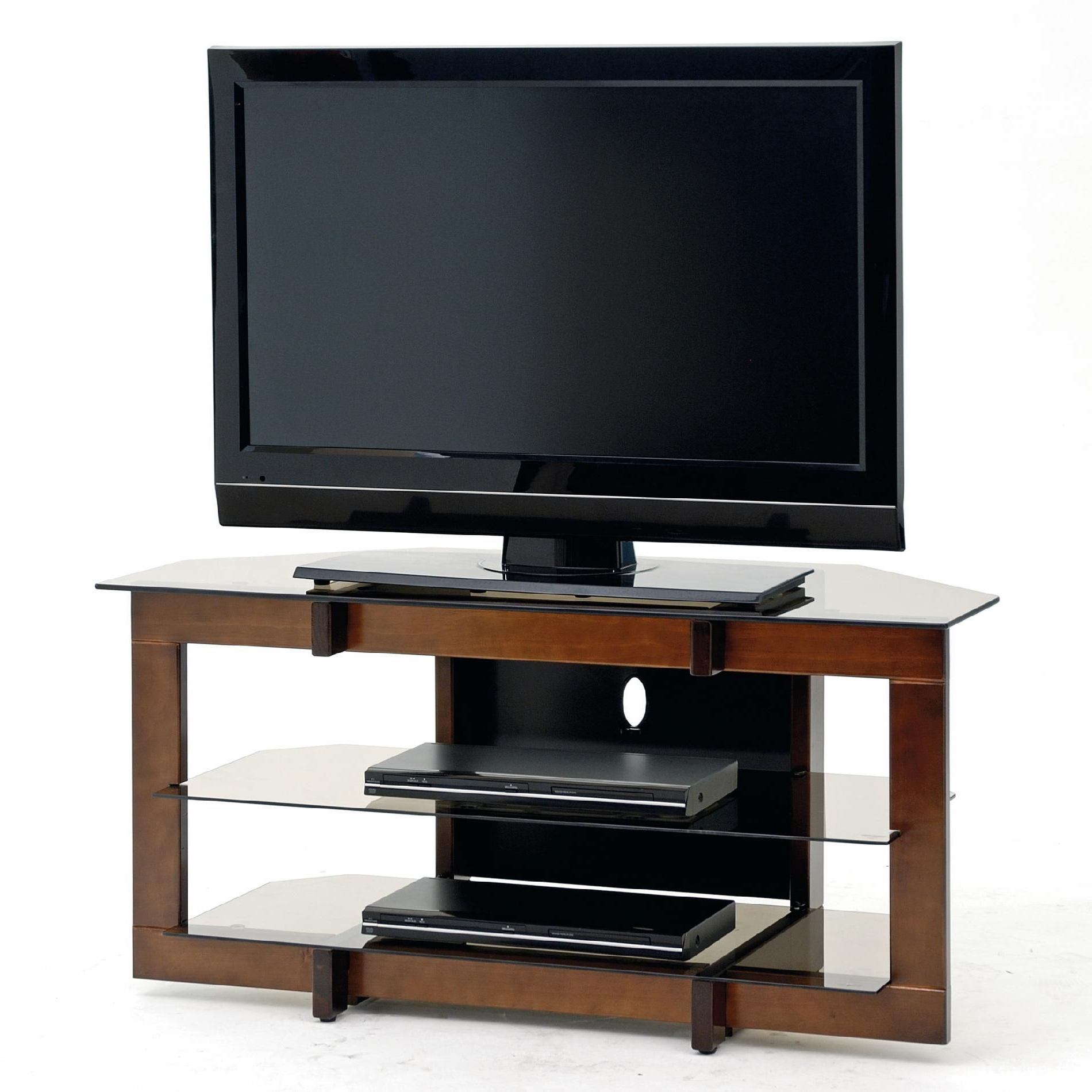 Awesome Best Oak And Glass Tv Stand In 2020   Tv Ecke, Tv Throughout Contemporary Black Tv Stands Corner Glass Shelf (View 1 of 20)