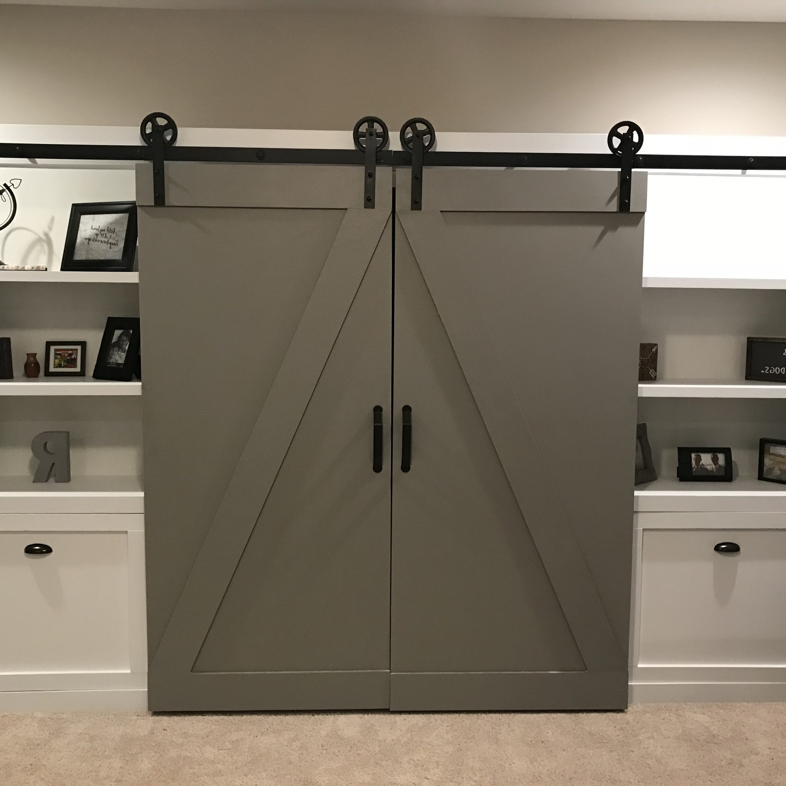 Barn Door Tv Cabinet – Ryobi Nation Projects With Farmhouse Woven Paths Glass Door Tv Stands (View 11 of 20)