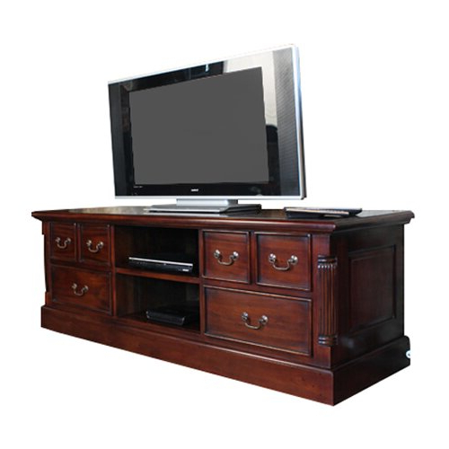 """Baumhaus La Roque Mahogany Tv Stand For Tvs Up To 60 With Regard To Corner Tv Stands For Tvs Up To 48"""" Mahogany (View 15 of 20)"""