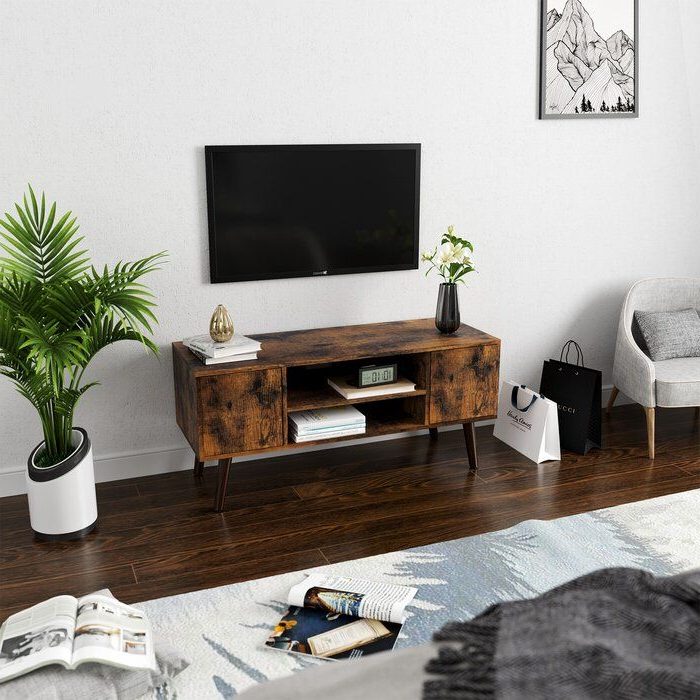 """Baylee Tv Stand Tvs Up To 43"""" (with Images)   Retro Tv Pertaining To Maubara Tv Stands For Tvs Up To 43"""" (View 4 of 20)"""