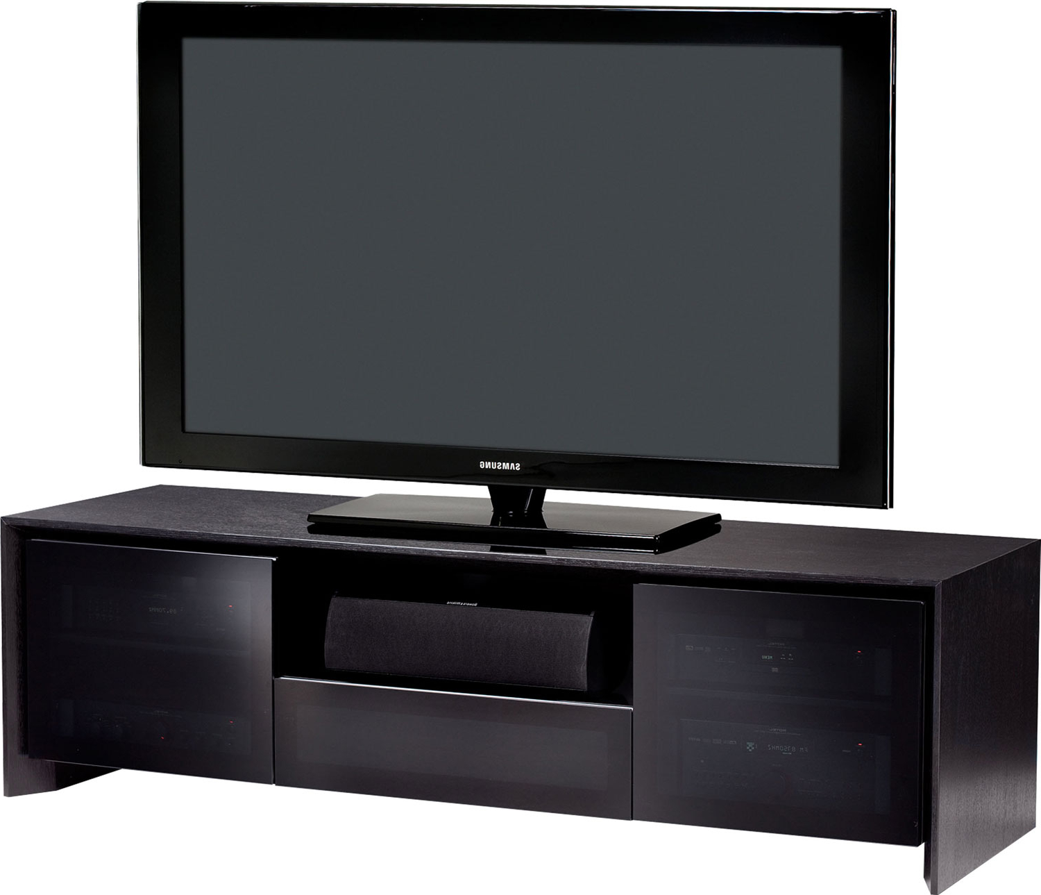 """Bdi Casata 8629 B Black Oak Tv Stand For Up To 70 Inch Intended For Broward Tv Stands For Tvs Up To 70"""" (View 8 of 20)"""