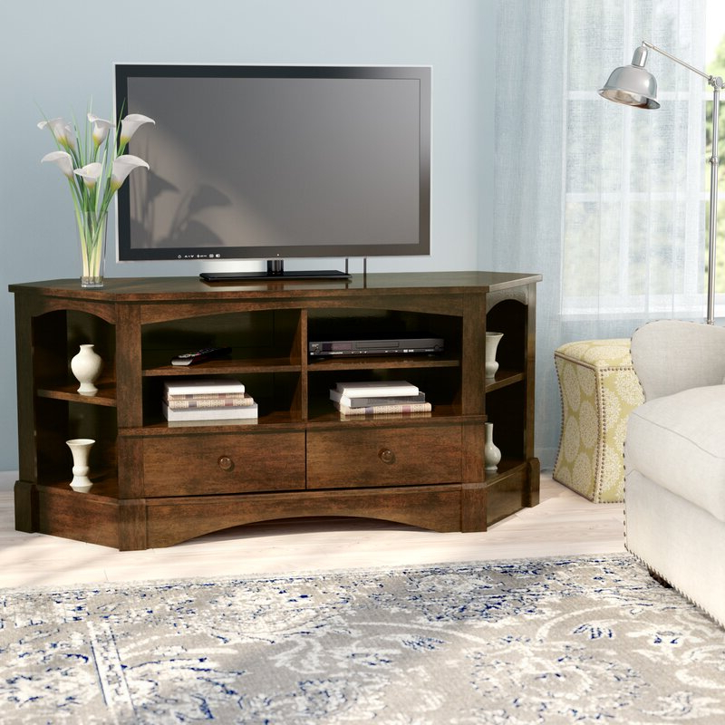 Beachcrest Home Pinellas Corner Tv Stand For Tvs Up To 60 Inside Samira Corner Tv Unit Stands (View 8 of 20)