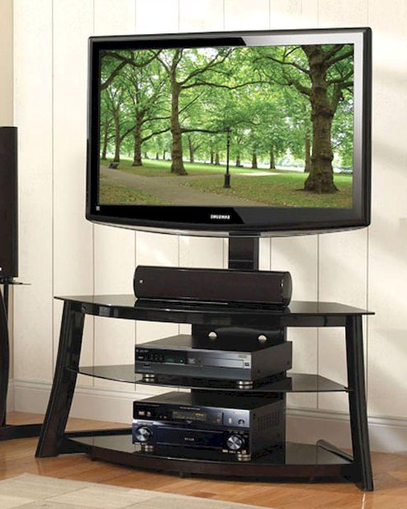 Bello – Black Swivel Tv Stand Be Fp 4858hg Regarding Dillon Black Tv Unit Stands (View 4 of 20)