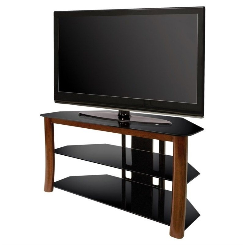 """Bello Triple Play 42 Inch Corner Tv Stand – Tp4501 Pertaining To Glass Doors Corner Tv Stands For Tvs Upto 42"""" (View 10 of 20)"""
