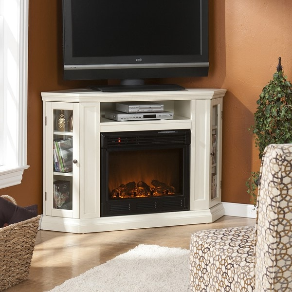 Belvedere Ivory Media Console Fireplace In Compton Ivory Extra Wide Tv Stands (View 14 of 20)