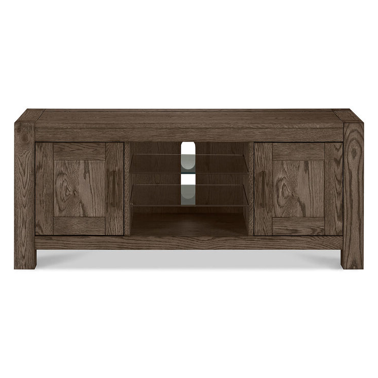 Bentley Designs Milan Dark Oak Entertainment Unit For Tvs Intended For Milan Glass Tv Stands (View 18 of 20)