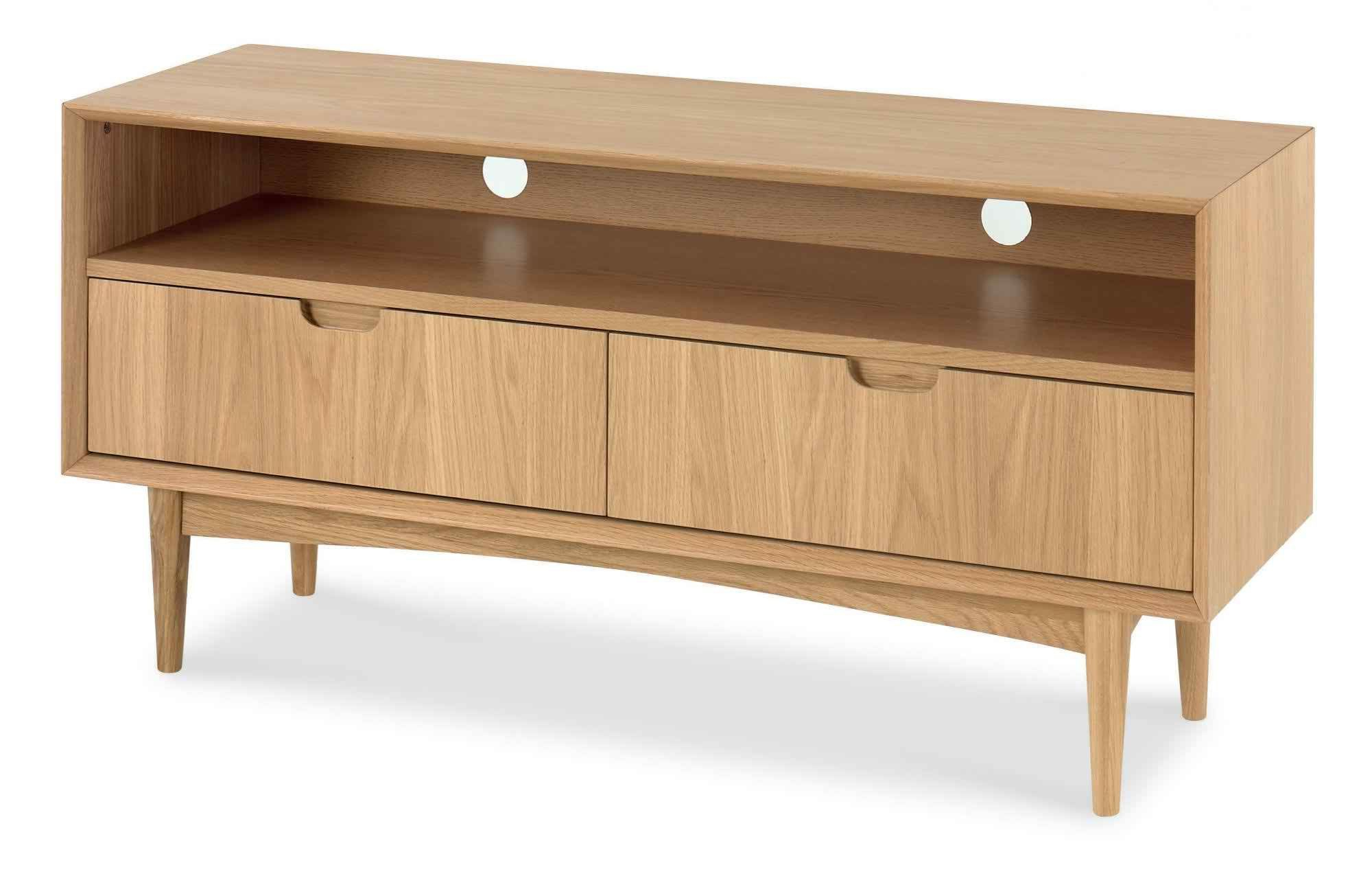 Bentley Designs Oslo Oak Entertainment Unit |first Intended For Bromley Extra Wide Oak Tv Stands (View 10 of 20)