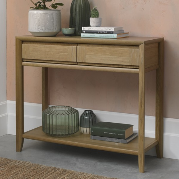 Bergen Oak Console Table – Frances Hunt With Bergen Tv Stands (View 13 of 20)