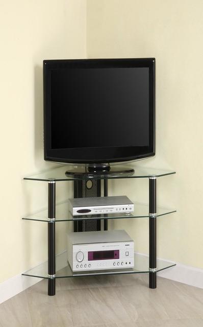 Bermuda Corner Tv Stand – Modern – Entertainment Centers Regarding Tasi Traditional Windowpane Corner Tv Stands (View 3 of 20)