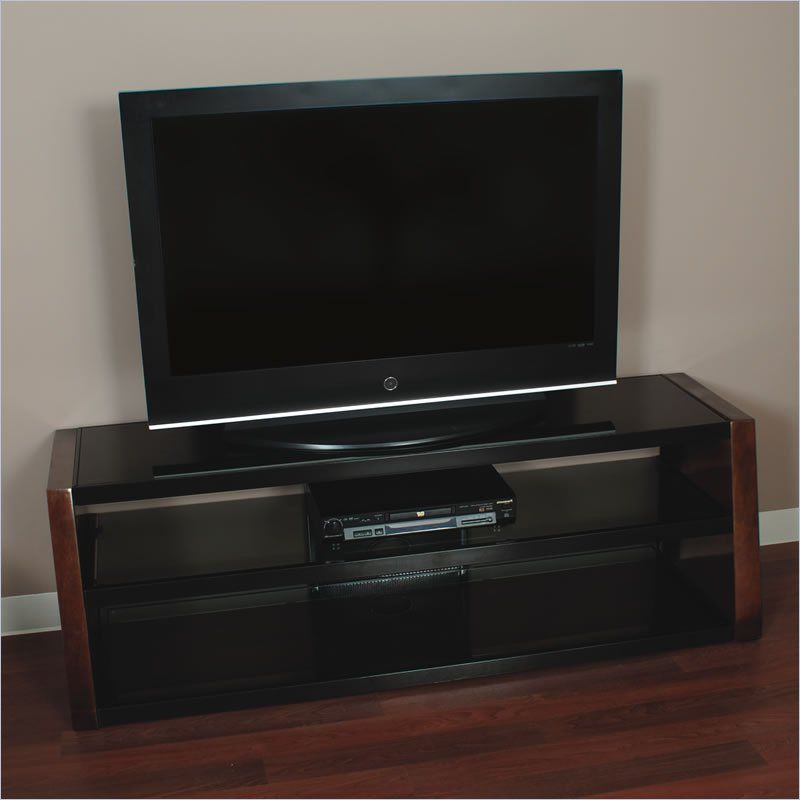 Best Price Home Styles Bedford Tv Stand For 60 Plasma/lcd Inside Wide Tv Stands Entertainment Center Columbia Walnut/black (View 15 of 20)