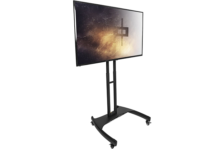 Best Tv Stands For 65 Inch Tv Of 2021 Within Easyfashion Modern Mobile Tv Stands Rolling Tv Cart For Flat Panel Tvs (View 7 of 20)