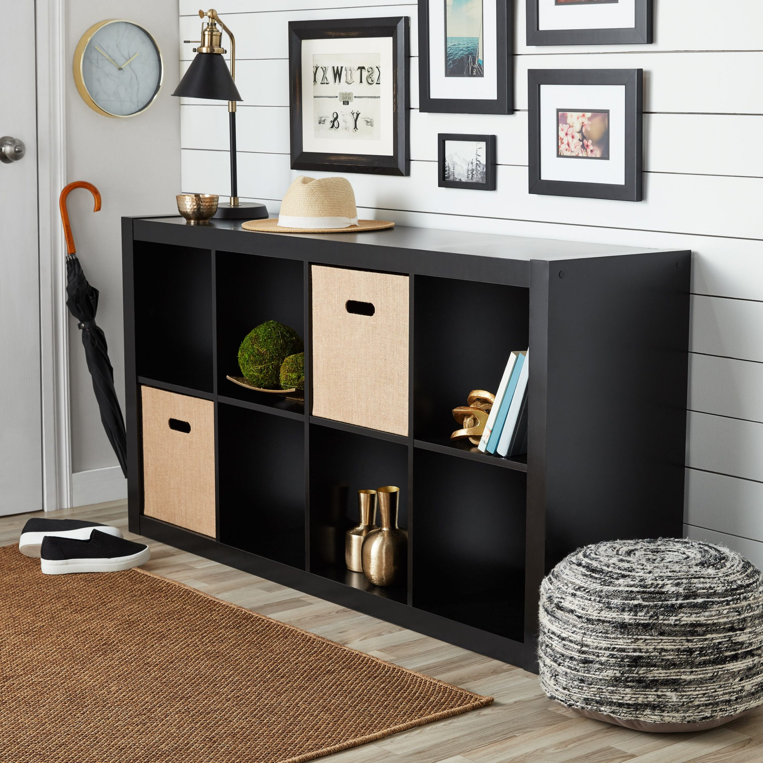 Better Homes & Gardens 8 Cube Organizer, Solid Black Throughout Mainstays 4 Cube Tv Stands In Multiple Finishes (View 2 of 20)