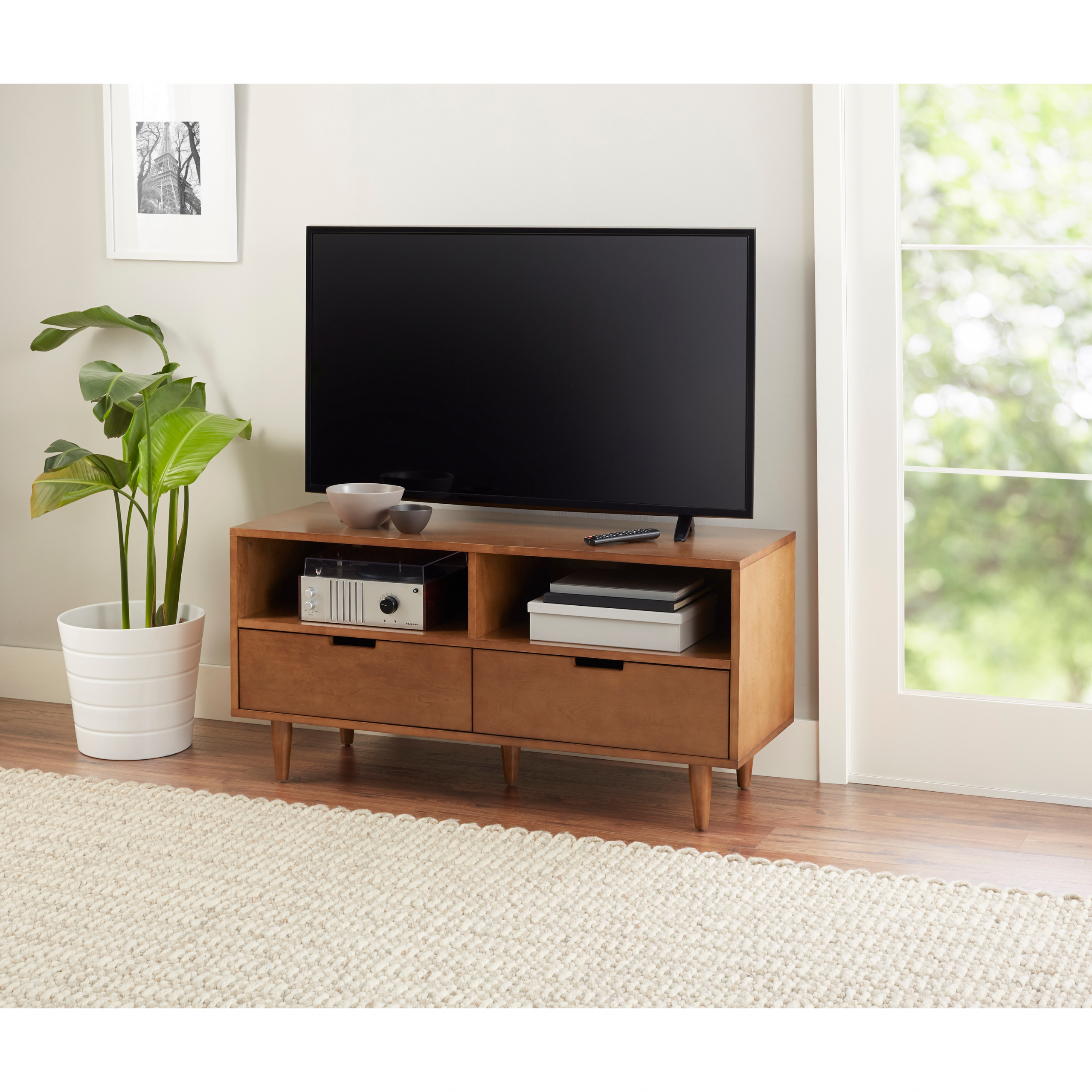 Better Homes & Gardens Flynn Tv Stand For Tvs Up To 55 Regarding Mainstays Tv Stands For Tvs With Multiple Colors (View 9 of 20)