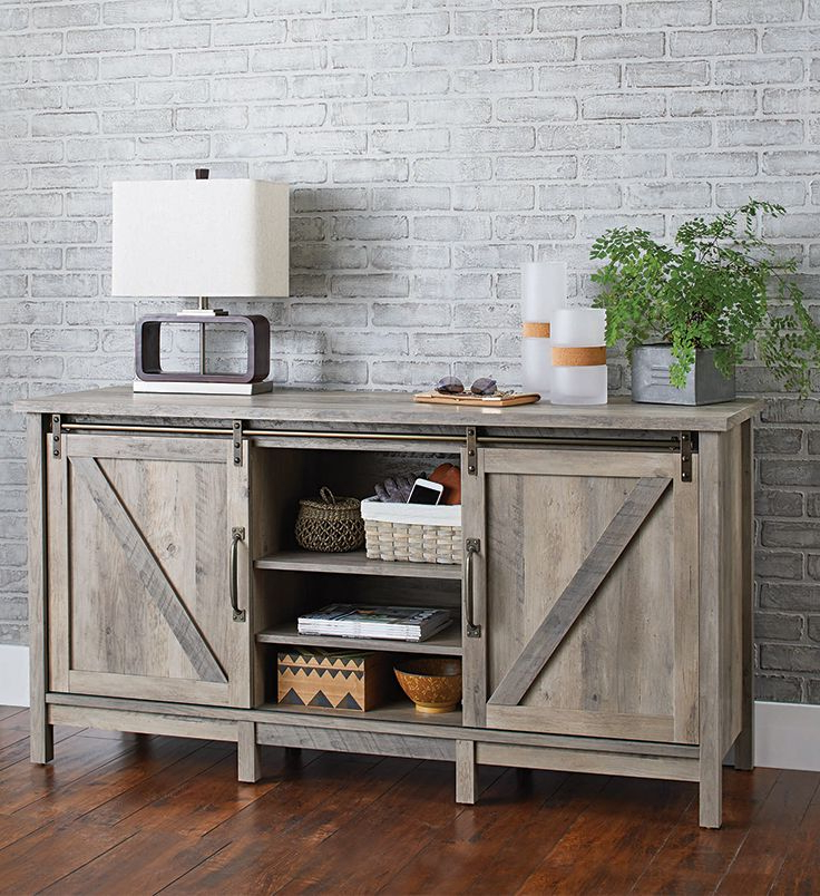 Better Homes & Gardens Modern Farmhouse Tv Stand For Tvs Regarding Rustic Grey Tv Stand Media Console Stands For Living Room Bedroom (View 1 of 20)