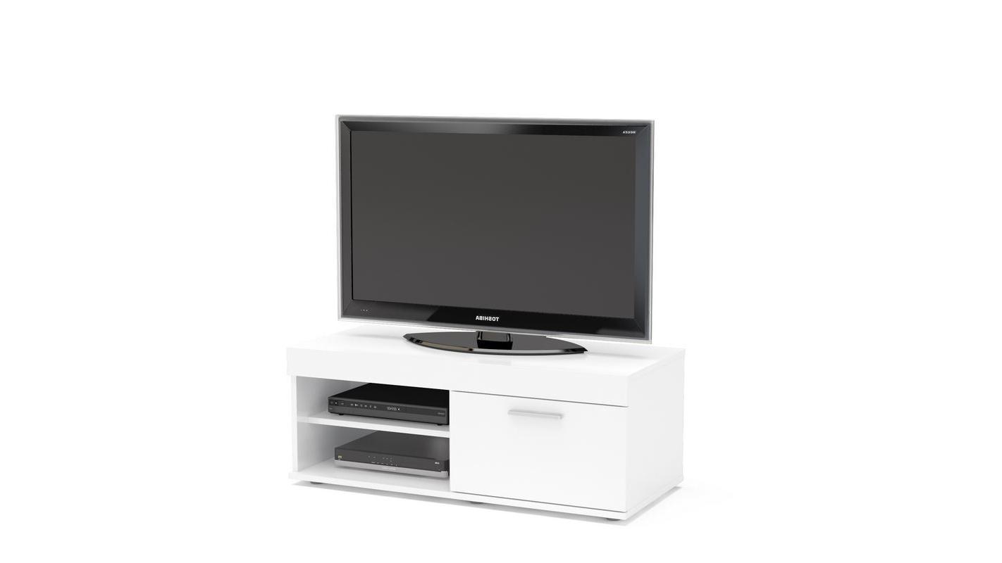 Birlea Edgeware Small Tv Entertainment Unit White Gloss In Manhattan Compact Tv Unit Stands (View 13 of 20)