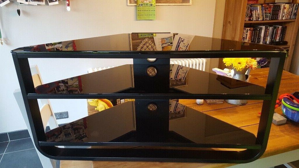 Black Glass Corner Tv Stand   In Sheldon, West Midlands For Contemporary Black Tv Stands Corner Glass Shelf (View 8 of 20)