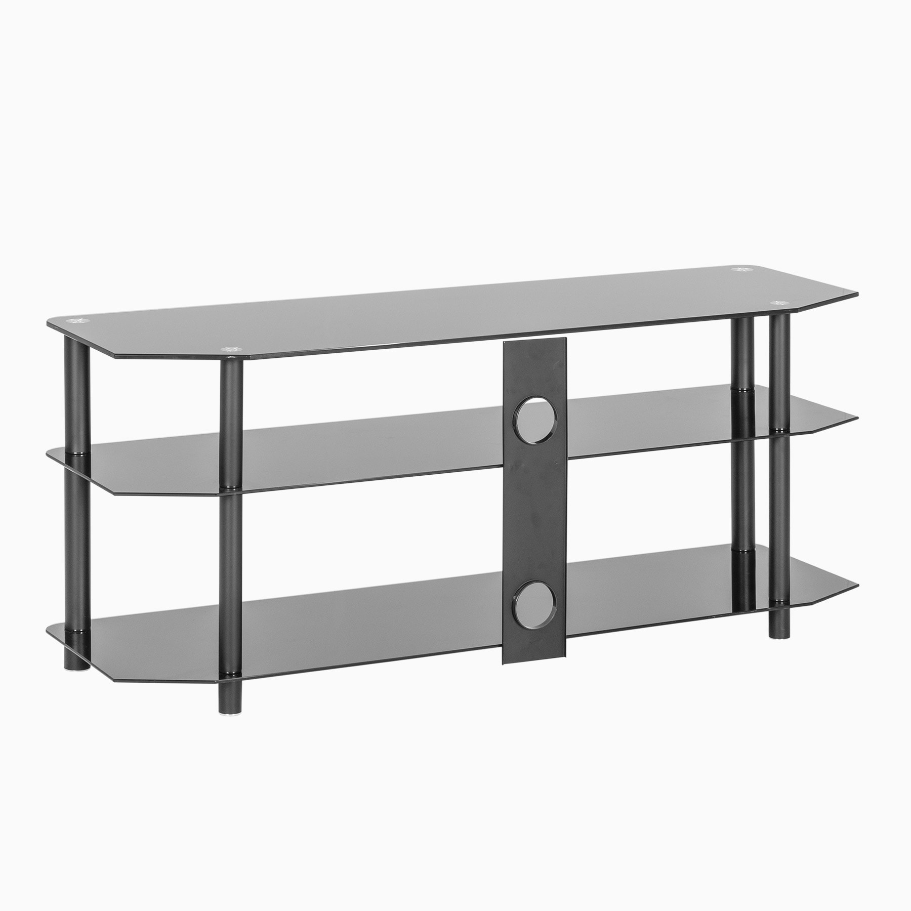 """Black Glass Corner Tv Stand Up To 60 Inch Tv   Mmt Zgbb1200 Inside Glass Shelves Tv Stands For Tvs Up To 50"""" (View 8 of 20)"""