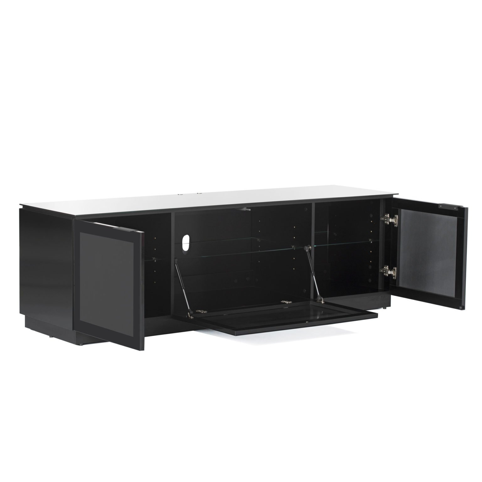 Black Gloss Tv Unit Up To 80 Inch Flat Screen Tv   Mmt D1800 Intended For Dillon Black Tv Unit Stands (View 16 of 20)