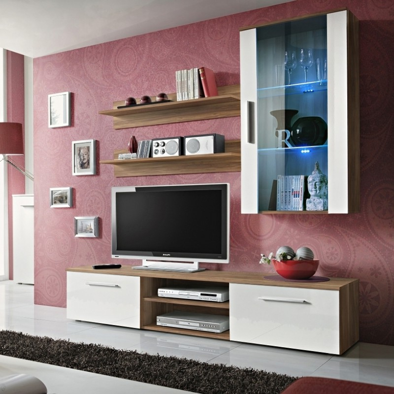 Bmf Galino E Wall Unit Living Room Set 180cm Wide High Within Galicia 180cm Led Wide Wall Tv Unit Stands (View 18 of 20)
