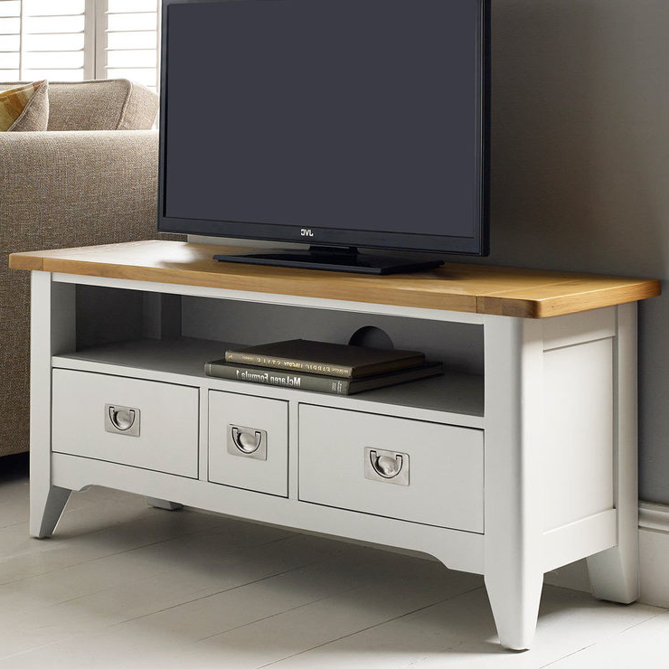 """Bordeaux Painted Ivory Tv Stand For Tvs Up To 49""""   Costco Uk In Compton Ivory Corner Tv Stands (View 6 of 20)"""