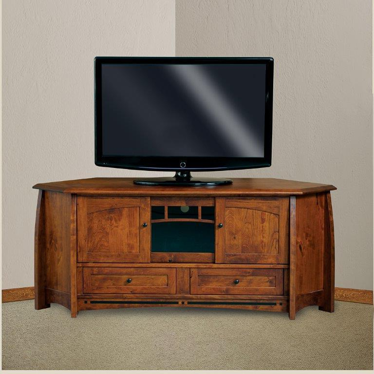 """Boulder Creek 69"""" Mission Corner Tv Stand From With Lucy Cane Cream Corner Tv Stands (View 17 of 20)"""