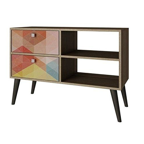 """Bowery Hill 35"""" Tv Stand In Oak   Home Entertainment Pertaining To Bromley Oak Corner Tv Stands (View 2 of 20)"""