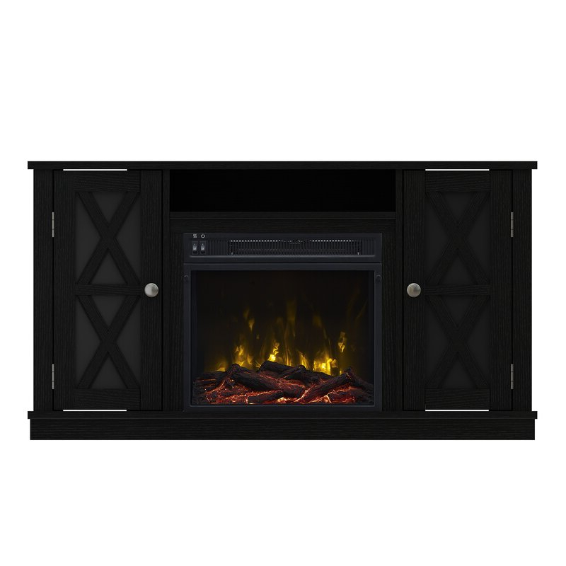 """Breakwater Bay Emelia Tv Stand For Tvs Up To 50"""" With Regarding Neilsen Tv Stands For Tvs Up To 50"""" With Fireplace Included (View 12 of 20)"""
