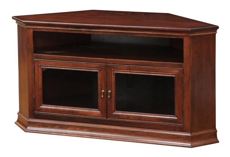 Breckenridge #40 Corner Tv Stand – Ohio Hardwood Throughout Hex Corner Tv Stands (View 17 of 20)