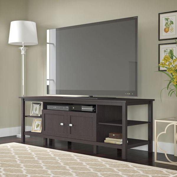 """Broadview Tv Stand For Tv's Up To 75 Inches In Espresso In Chrissy Tv Stands For Tvs Up To 75"""" (View 6 of 20)"""