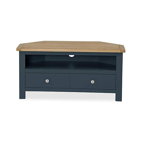 Bromley Blue Corner Tv Stand | Painted Tv Stand, Corner Tv With Regard To Bromley Oak Tv Stands (View 3 of 20)