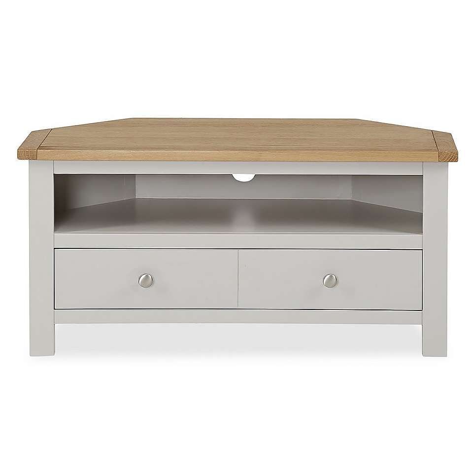 Bromley Grey Corner Tv Stand | Corner Tv Stand, Grey In Bromley Oak Tv Stands (View 4 of 20)