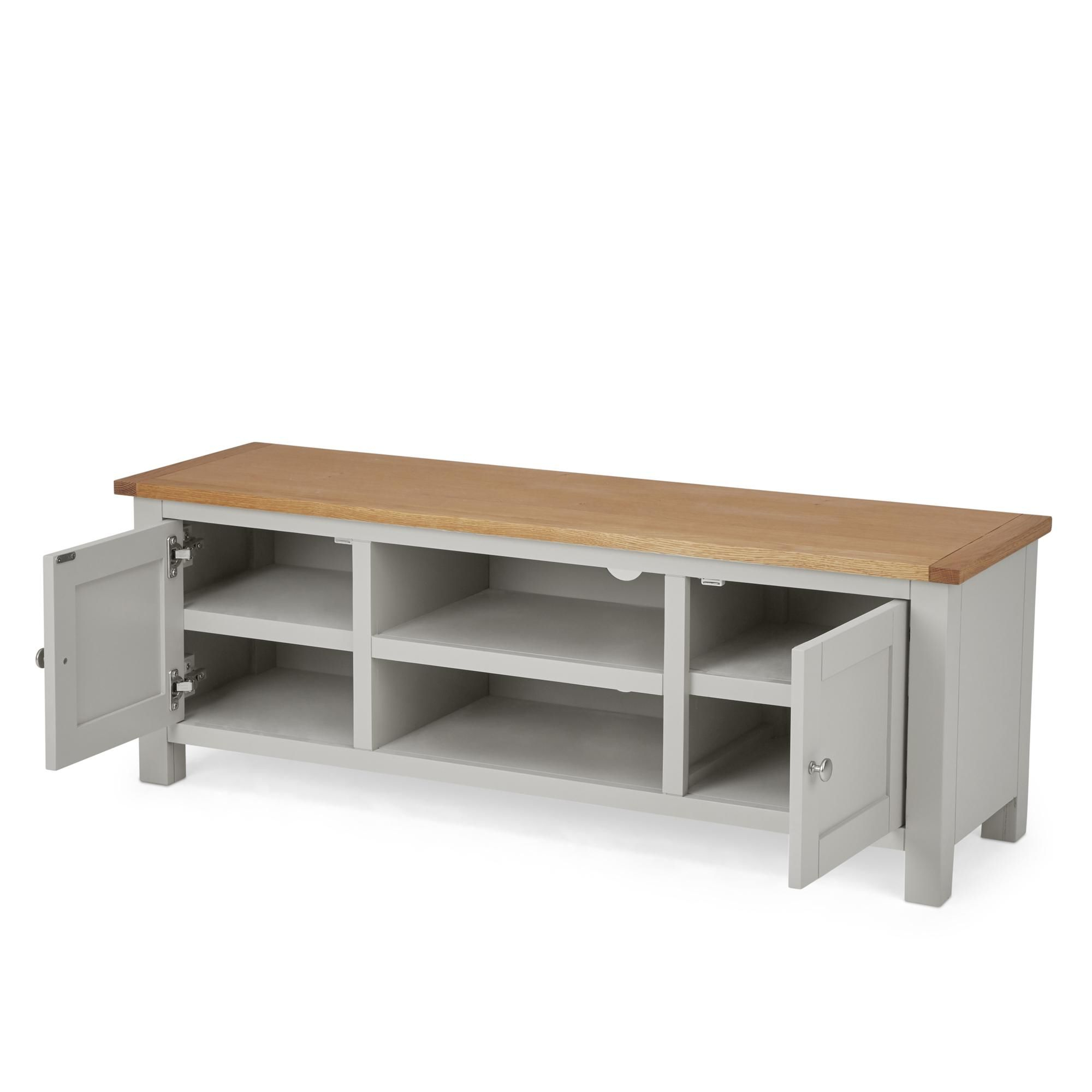 Bromley Grey Wide Tv Stand | Grey Tv Unit, Grey Tv Stand Pertaining To Bromley Oak Tv Stands (View 13 of 20)