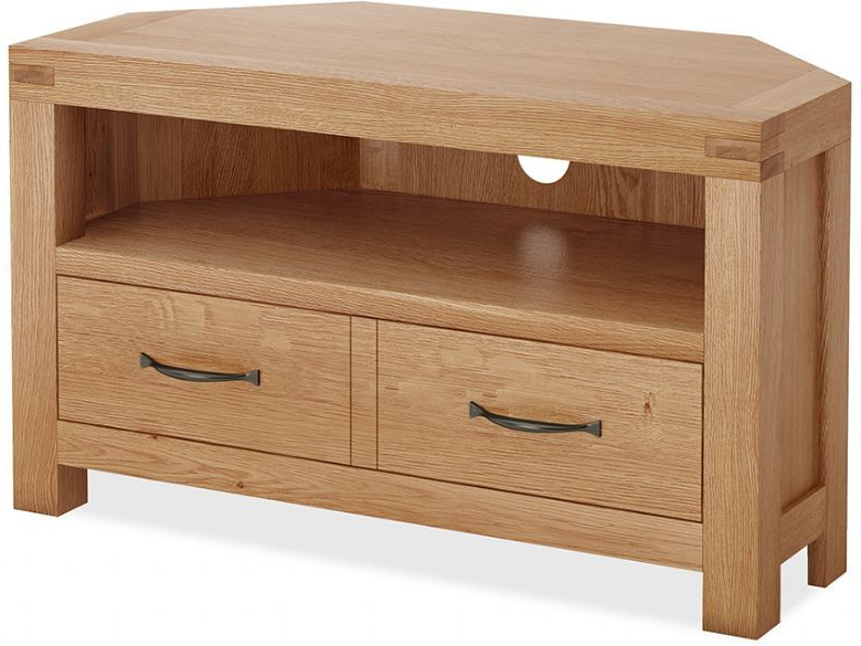 Bromley Oak Corner Tv Unit – Furniture Barn | Corner Tv With Bromley Extra Wide Oak Tv Stands (View 6 of 20)