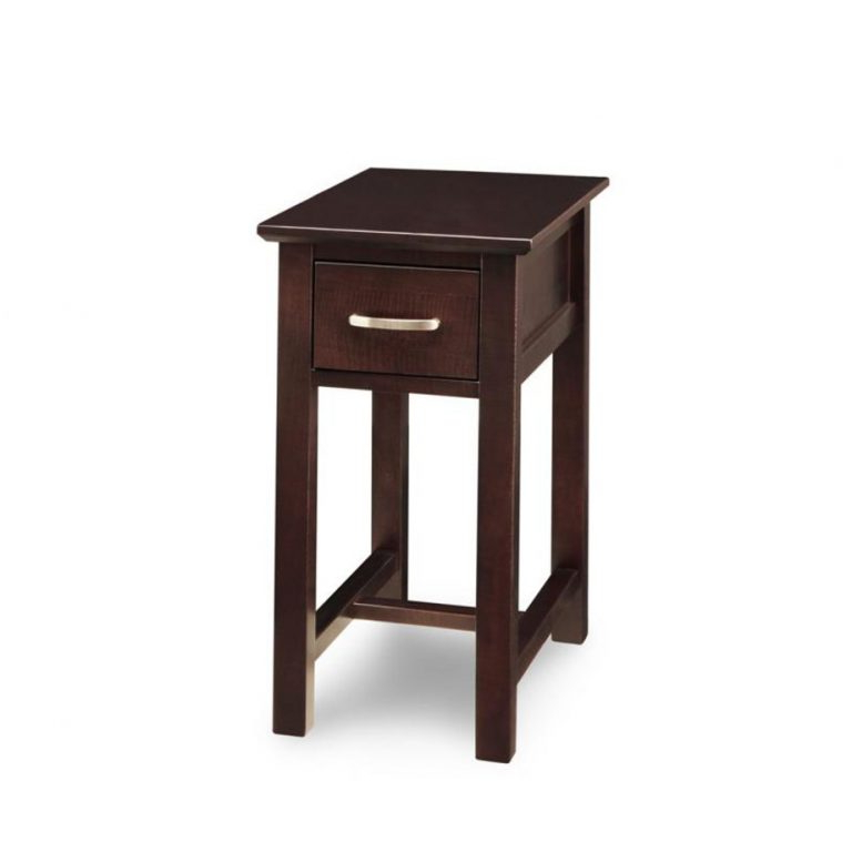 Brooklyn Chairside Table – Solid Wood Custom Built Inside Hanna Oyster Wide Tv Stands (View 7 of 20)