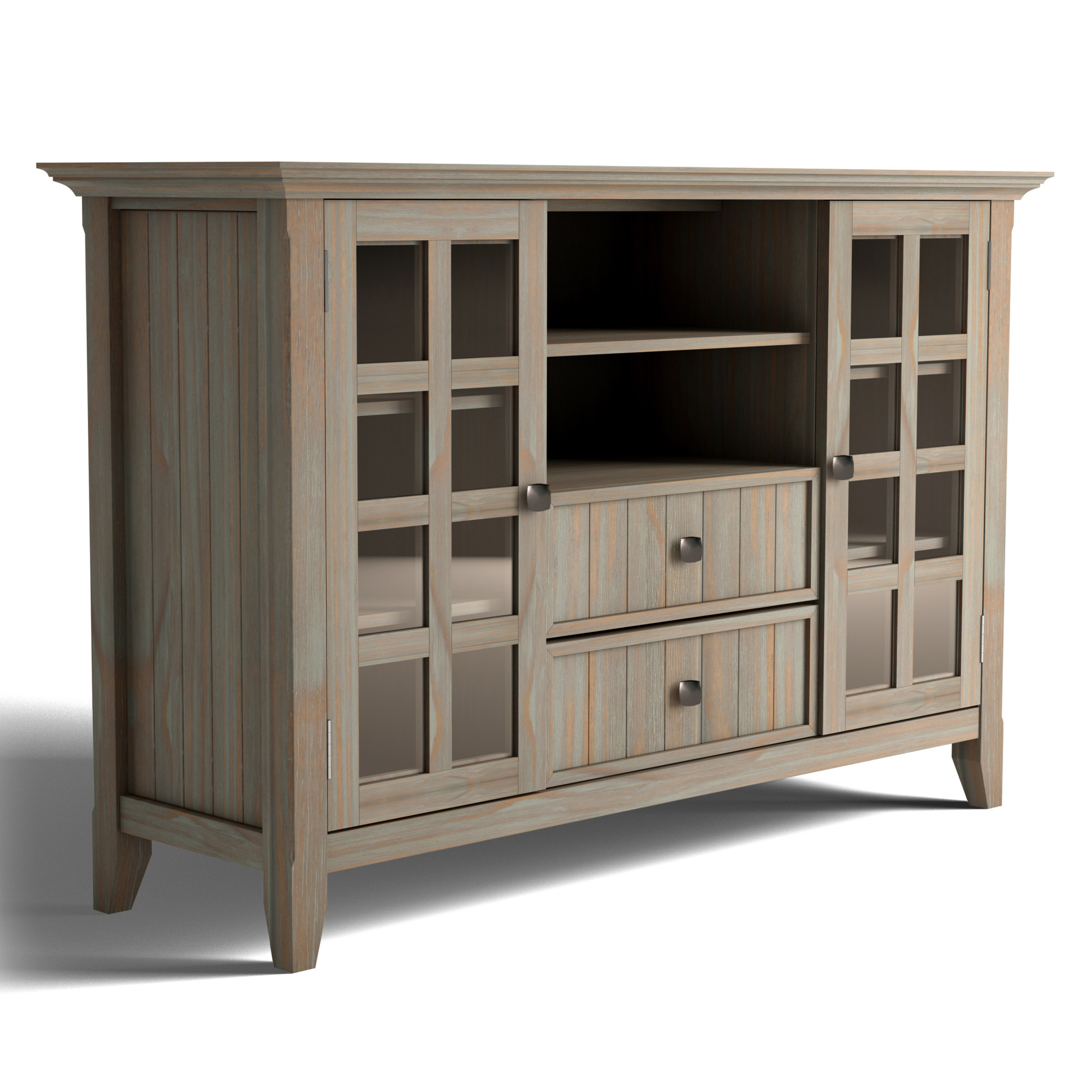 """Brooklyn + Max Brunswick Solid Wood 53 Inch Wide Rustic Tv For Spellman Tv Stands For Tvs Up To 55"""" (View 15 of 20)"""
